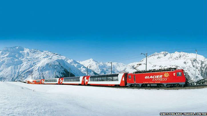 glacier snow train